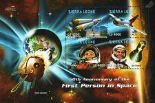 YURI GAGARIN/Alan Shepard/VOSTOK Rocket/MiG-15/First Man in Space Stamp Sheet