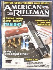 Magazine American Rifleman, AUGUST 1996 !!! SAVAGE 110FM Sierra RIFLE !!!
