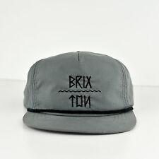 Brixton Sombrero Gorra-Classic Vintage Gris-Excelente Estado