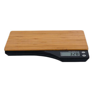 5kg Fashion Style Bamboo Kitchen Food Electric Digital Scales Chef Tools