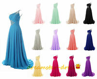 STOCK Long Formal Evening Dress Bridesmaid Party Prom Club Wedding Ball Size6-18