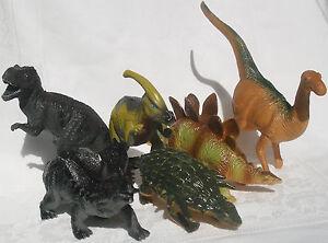 DINOSAURS, Styracosaurus,Ankylosaurus,Parasaurolophus,Thescelosaurus,Stegosaurus