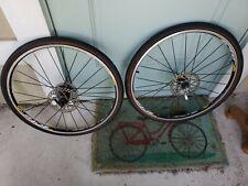 """Mavic Crossride 26"""" Disc Brake Wheelset, Black, 9/10/11 Speed"""
