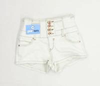 Womens Parisian Collection White Cotton Blend Shorts Size 10/L1