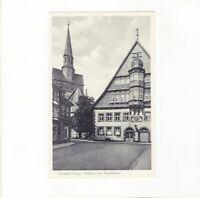 AK Ansichtskarte Osterode im Harz / Rathaus und Marktkirche