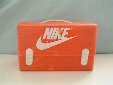 very rare vintage nike roadrunner brand orange  corrugated plastic shoe box