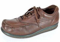 SAS Pathfinder Mens Comfort Oxford Shoes Sz 9 W Brown Leather Casual Crepe Sole