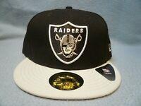 New Era 59fifty Las Vegas Raiders BRAND NEW Fitted cap hat Black NFL Oakland LV