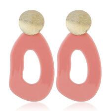 1 Pair Women Acrylic Geometric Long Drop Dangle Hoop Earrings Ear Stud Jewellery