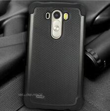 Shockproof Hard Soft Hybrid Armor Phone Case Cover Anti-Glare Films For LG G3