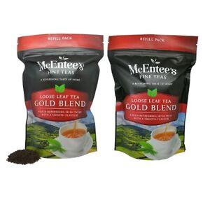 McEntee's IRISH Loose Leaf GOLD BLEND Tea TWIN 2 X 250g BAG - BLENDED IN IRELAND