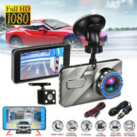 "Dual Lens 4"" 1080P HD Car DVR Camera Video Recorder Dash Cams G-Sensor Grey Cam"