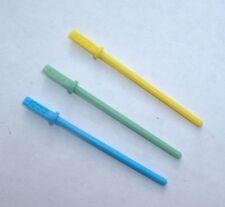 3 LOT Custom UNPAINTED Blue,Yellow,Green Lightsaber 1980 Luke Vintage Star War A