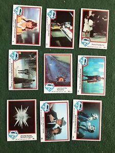 Lot of 9 Superman the Movie Trading cards Topps DC Comics lot #7