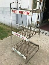 RARE OLD ANTIQUE TOM TUCKER GINGER ALE SOUTHERN STYLE SODA DISPLAY RACK SHELF