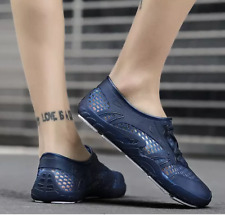 Mens Water Swimming Waterproof Hollow Out Jelly shoes Slip On Casual Comfy Shoes