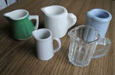 NICE GROUP of 5 INDIVIDUAL CREAMERS - Stoneware, ceramic & Glass