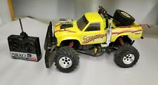 Vintage Nikko 7.2V Yellow Scorpion 1:10 Scale RC Remote Control pickup Truck