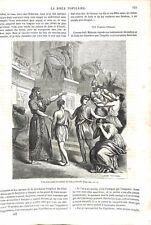 Ancien Testament Vous avez vendu les Enfants de Juda & Israël Bible GRAVURE 1864