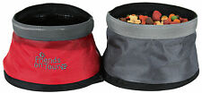 SALE 25135 Trixie Double Foldable Travel Water & Food Dog Bowl