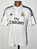 REAL MADRID SPAIN 2014/2015 HOME FOOTBALL SHIRT JERSEY ADIDAS SIZE M ADULT