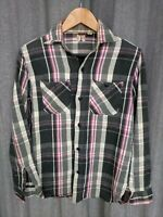 SUGAR CANE Japan TOYO highest quality flannel plaid vtg work shirt destroyed M
