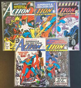 Action Comics #584-586, #589, Annual #1 (1987, DC Comics) John Byrne & Art Adams
