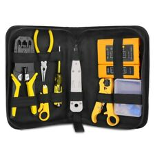 Network Repair Plier Tool Kit with Utp Cable Tester Spring Clamp Crimping Td9L6