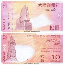 Macao 10 patacas de 2010 P-80b BNU Billetes Unc