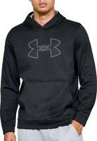 Mens Under Armour Performance Fleece Logo Pullover Hoodie BLACK - 2XL - NWT
