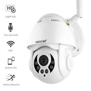 Wanscam 1080P WiFi IP Camera Face Detect Auto Tracking PTZ 4X Zoom Two-way Audio