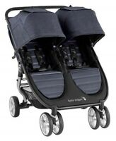 Baby Jogger City Mini 2 Twin Baby Double Stroller Carbon NEW 2020