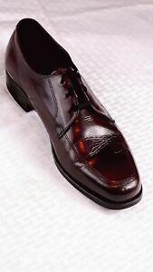 Vintage  Florsheim Mens 10D  Leather Dress Shoes Lace Up Cordovan 33617