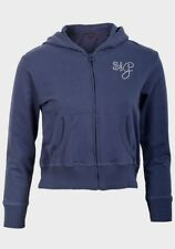 NEW  Soul & Glory Lipsy Girls Navy Hoodied Zip Through Top - Age 9 - 10 Years