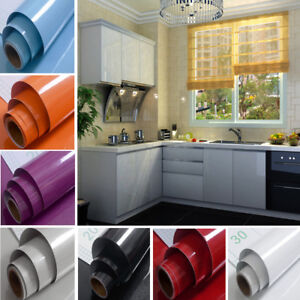 5m Glitter Grey Wallpaper Self Adhesive Furniture Stickers Kitchen Cabinet Decor