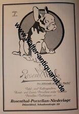 Rosenthal Porzellan Ludwig Hohlwein Düsseldorf Große Werbeanzeige anno 1922