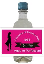24 Aged to Perfection Mini Wine Bottle Labels for  Birthday Parties