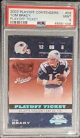 2007 Playoff Contenders Tom Brady PLAYOFF Ticket PSA 9 MINT POP 5 Only 1 Higher