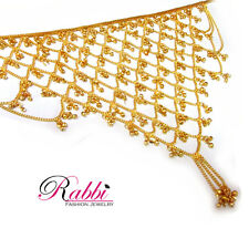Traditional Gold Plated V Shape Net Challa / Belly Hips Chain Waist Belt