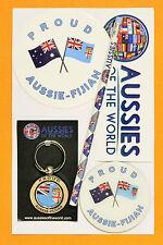 PROUD AUSSIE - FIJIAN GIFT AUSTRALIAN KEYRING MAGNET STICKER FIJI SOUVENIR