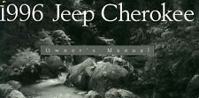 1996 Jeep Cherokee Owners Manual User Guide Reference Operator Book Fuses Fluids