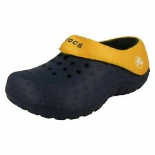 Girls Navy/Canary Slip On Light Weight Fleece Lined Crocs : Tembo Polar