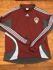 Colorado Rapids Long Sleeve Soccer Jersey 2XL Adult Adidas MLS Red Football