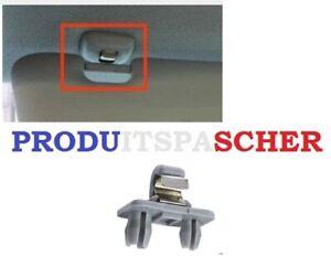 Crochet pare soleil Audi A1 A3 S3 A4 S4 A5 S5 Q3 Q5 Attache pare soleil gris