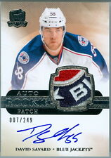 2011-12 THE CUP #157 DAVID SAVARD ROOKIE RC AUTO LETTERED LOGO 4 COLOUR PATCH