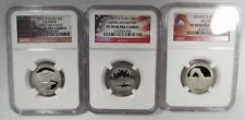 2011, 2013, 2014-S Clad Quarters NGC PF70 Ultra Cam Early Releases AJ98