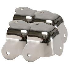 Four Pack Penn Elcom C1823N High Quality Metal Steel Cabinet Corner Nickel 3Leg