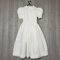 Vintage Girls Ruth of Carolina White Size 10 Dress Flower Girl Confirmation **