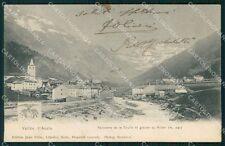 Aosta La Thuile Ghiacciaio Ruitor cartolina VK0776