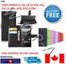 Fits Sony Xperia X XA XA1 XA2 Ultra XZ1 New Flip Cover Wallet Leather Phone Case